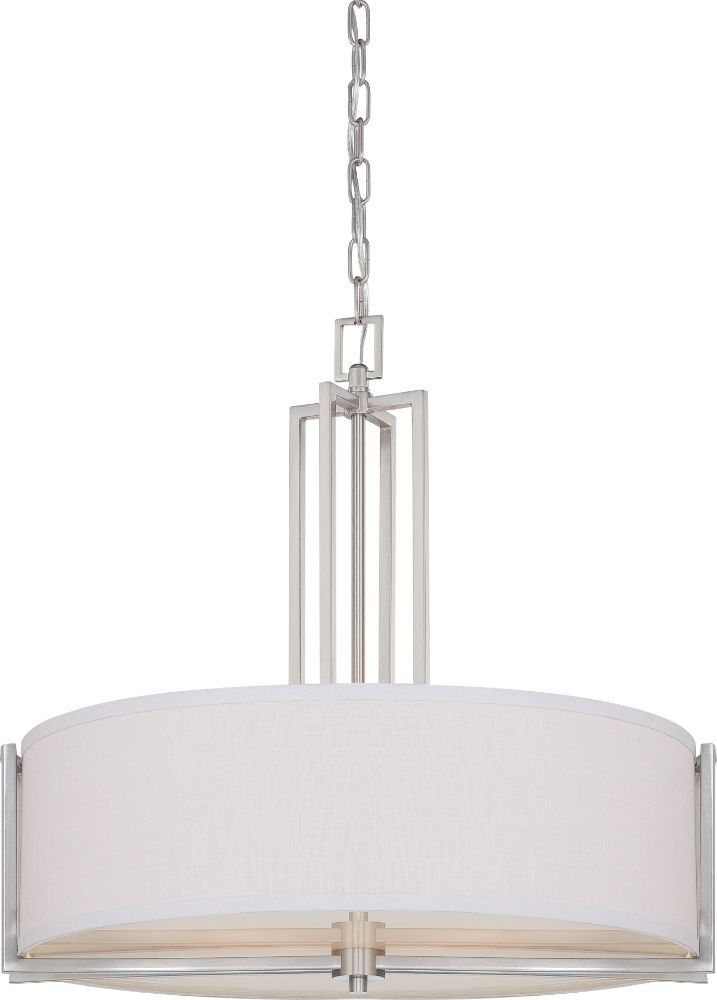 Gemini Brushed Nickel Drum Pendant 23 Wx23 H Drum Pendant