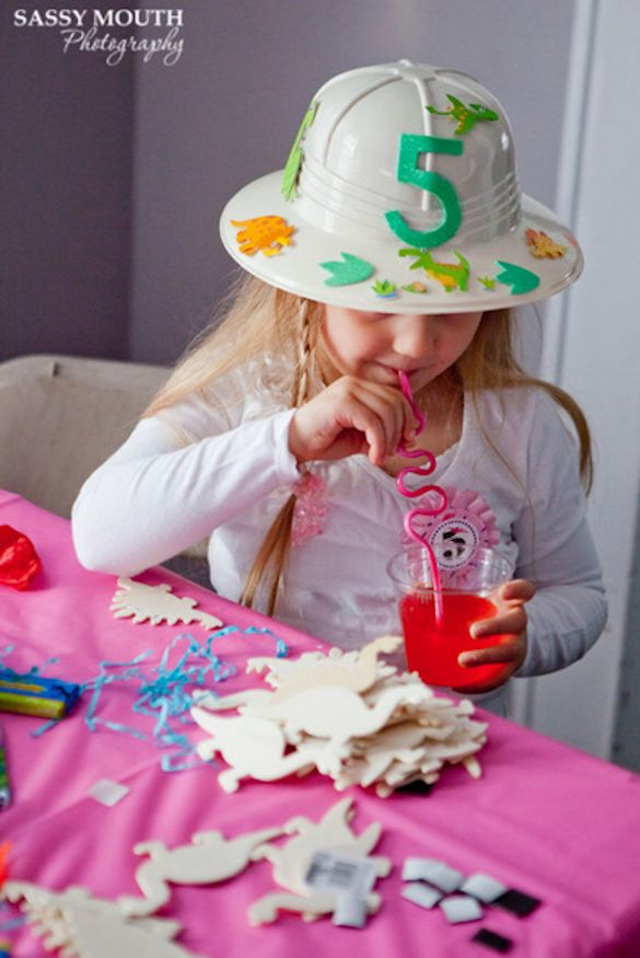 Girls Dino party Party Inspiration Pinterest Birthdays