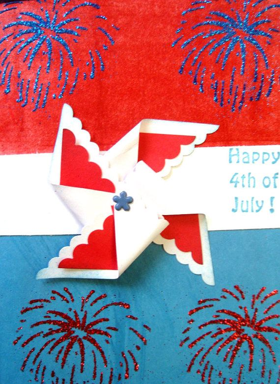 Happy 4th Of July Homemade Greeting Cards 4th Of July