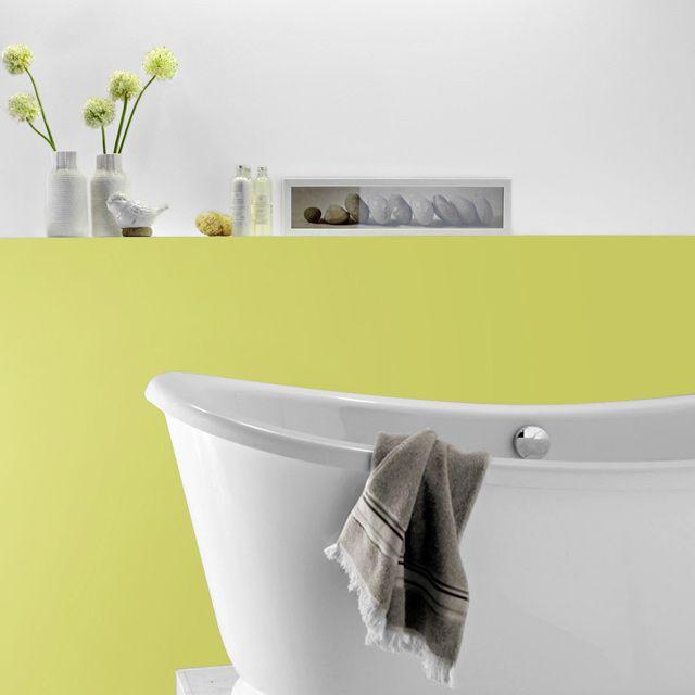 peinture cuisine et salle de bains tollens blanc satin 2l d co jaune pinterest boiserie. Black Bedroom Furniture Sets. Home Design Ideas