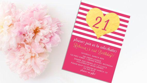 21st birthday invitation 21 birthday by kaylazimbaprintables 7 50