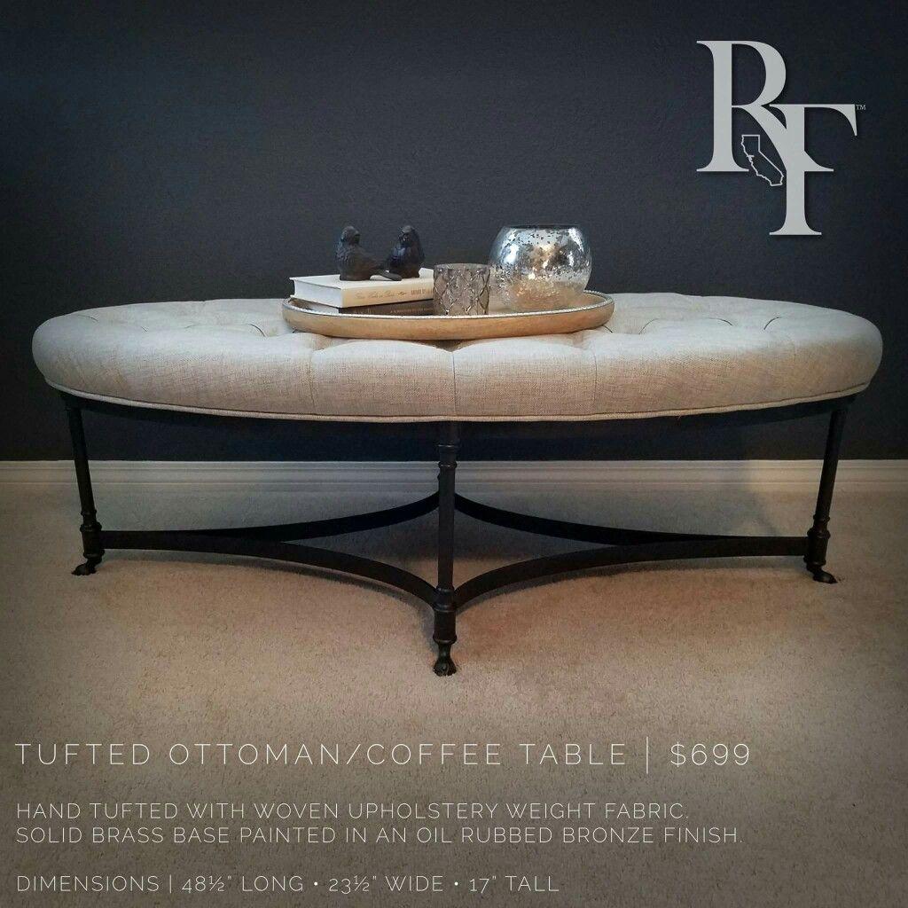 Tufted ottoman/coffee table. Resurrection Furniture Co. Temecula, CA ...