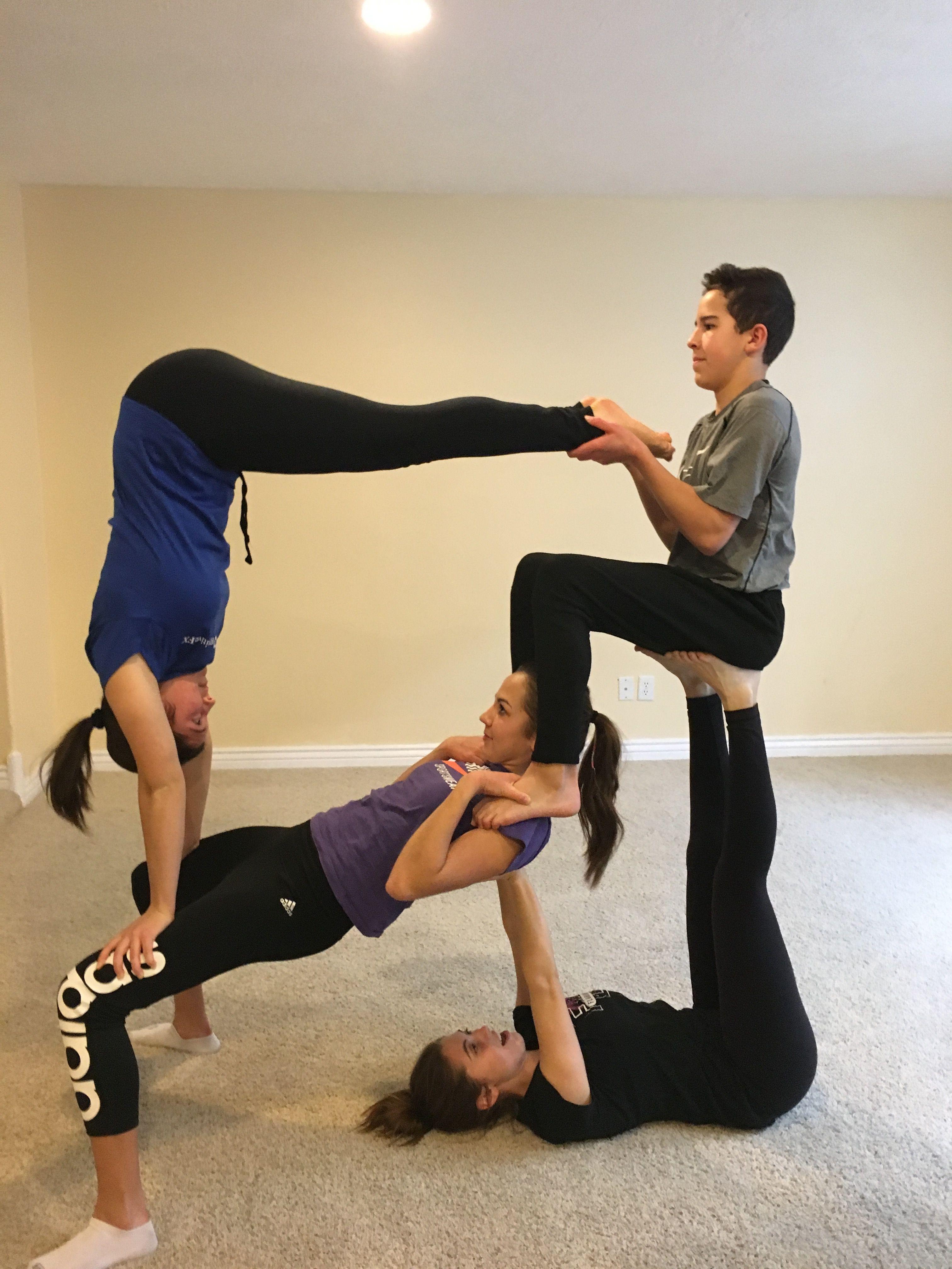 Family Goals Yogagoals Acro Yoga Poses Yoga Poses Partner Yoga