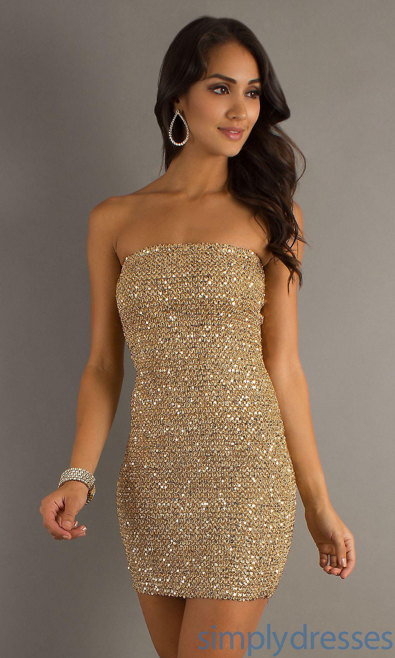 Short strapless sequin dress chse stuff to buy pinterest