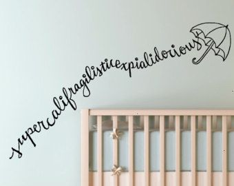 Mary Poppins whimsical Custom Vinyl Wall Decal