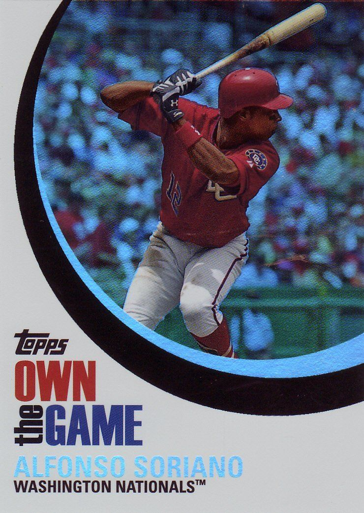 2007 Topps Own The Game Otg3 Alfonso Soriano Washington Nationals Baseball Cards This Is Washington Nationals Baseball Baseball Cards Nationals Baseball