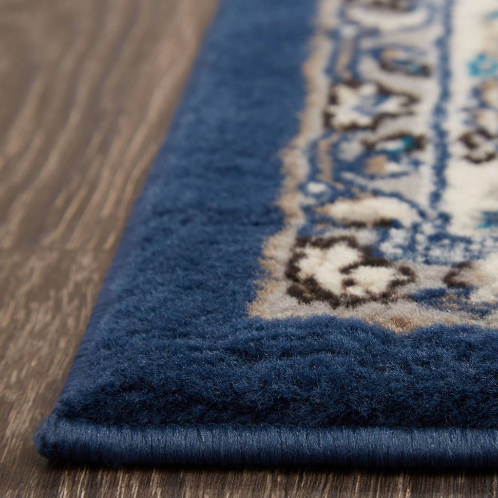 Arend Oriental Navy Blue White Area Rug Area Rugs Magnolia Rugs Rugs