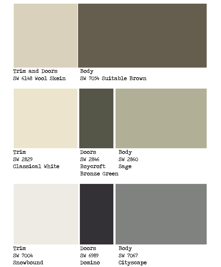 Sherwin williams sealskin shutters google search for Exterior house color palette ideas