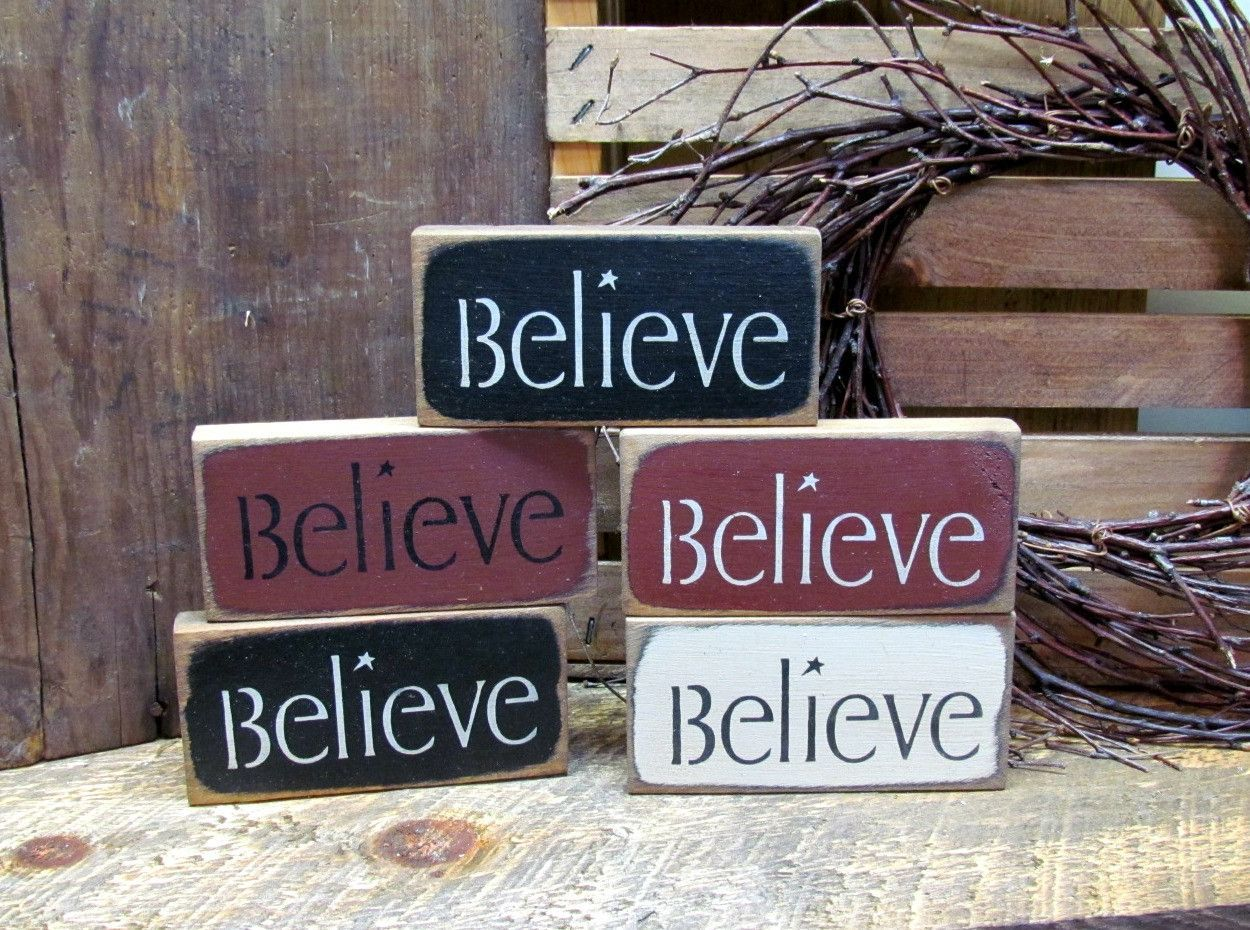 Believe Signs Decor Little Believe Signs Wooden Signs  Wood Signs Woods And Craft