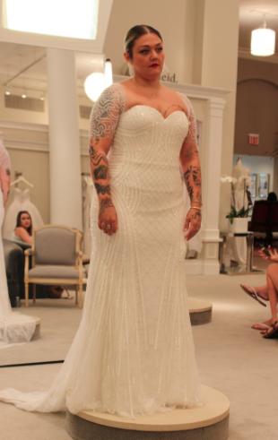 Season 15 Featured Dress Designer Kenneth Pool Style Andrea Sweet Heart Neckline Ed Bodice Lots Of Beading Art Deco Feel 7 900