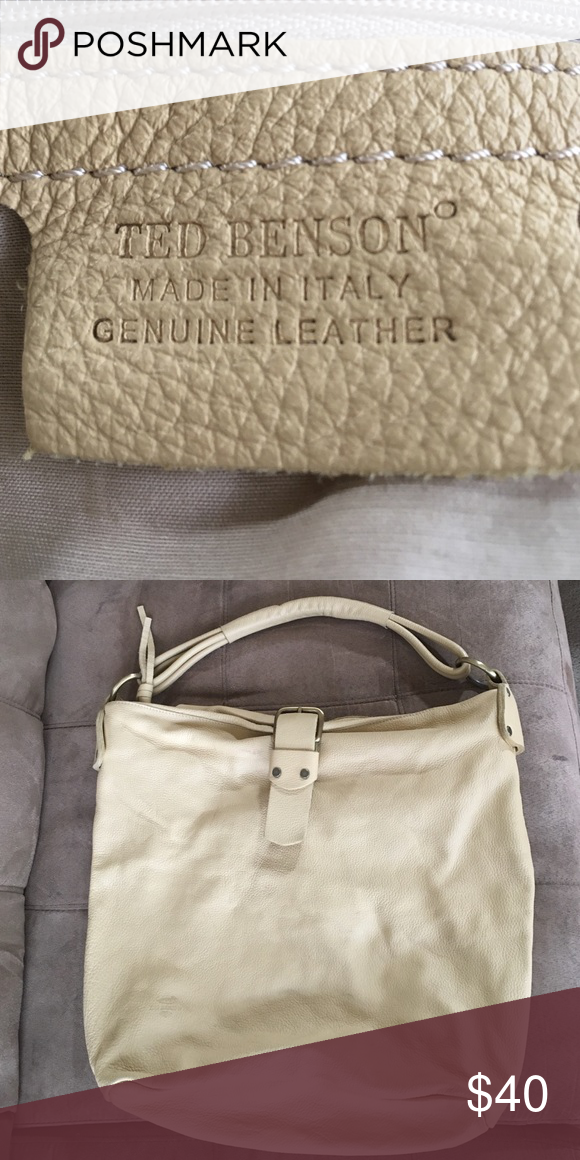 Ted Benson Cream colored Handbag No rips or tears only used a couple of times love the bag, just a little to big for me. Ted Benson  Bags Mini Bags