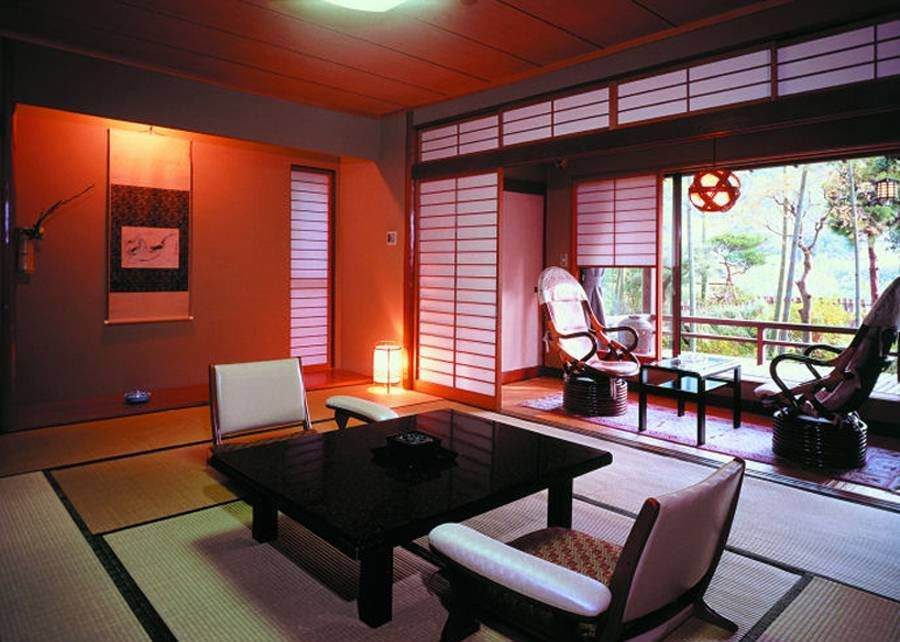 Living Room Traditional Japanese House Design Interior