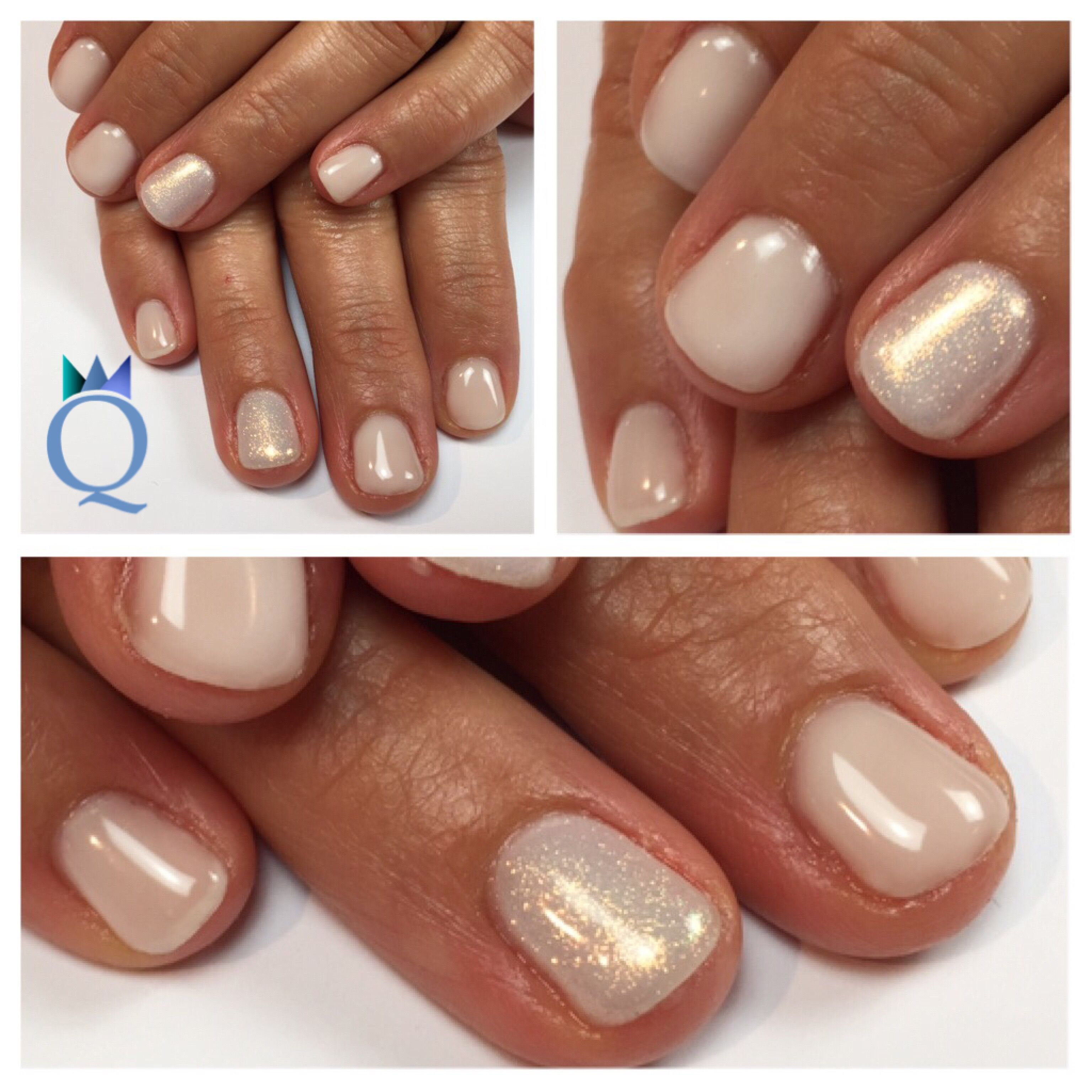 shortnails #gelnails #nails #white #mermaidpigment #kurzenägel ...