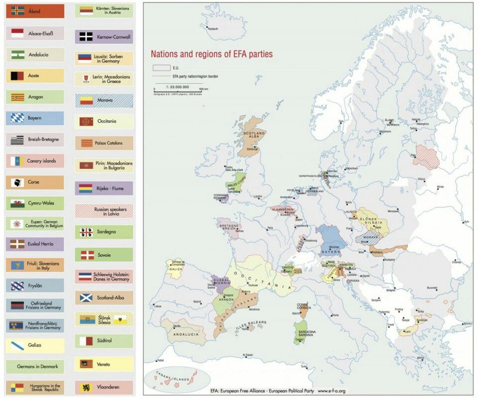 What Europe Would Look Like If All The Separatist Movements Got