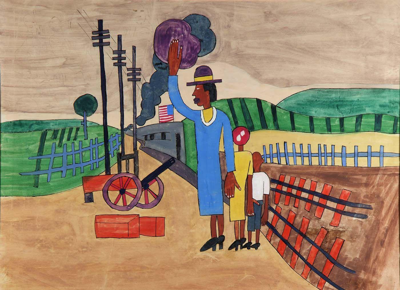 Farewell william h johnson peinture naive art american