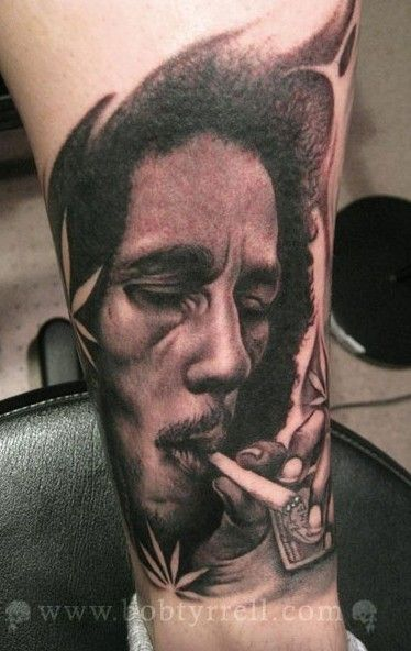 Tatuajes Bob Marley bob tyrrell : man behind lively portrait tattoos and scary skull