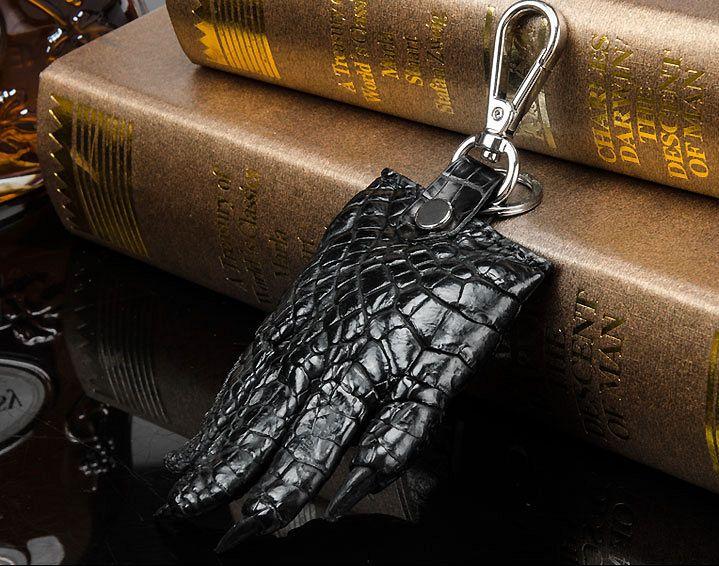Genuine Crocodile Claw Keychain Luxury Car Keychain With Key Ring