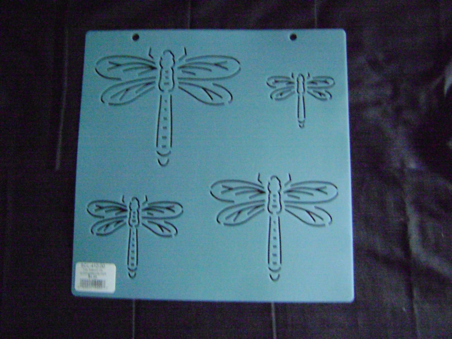 Sashiko Japanese Embroidery Stencil Dragonfly Block/Quilting/7.5 in. by KimonoBoro on Etsy