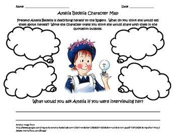 3rd Grade Common Core Character Map: Amelia Bedelia | Amelia ...