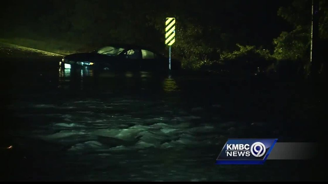 High water from flooding rains caused major problems in much of the Kansas City metropolitan area on Friday night.