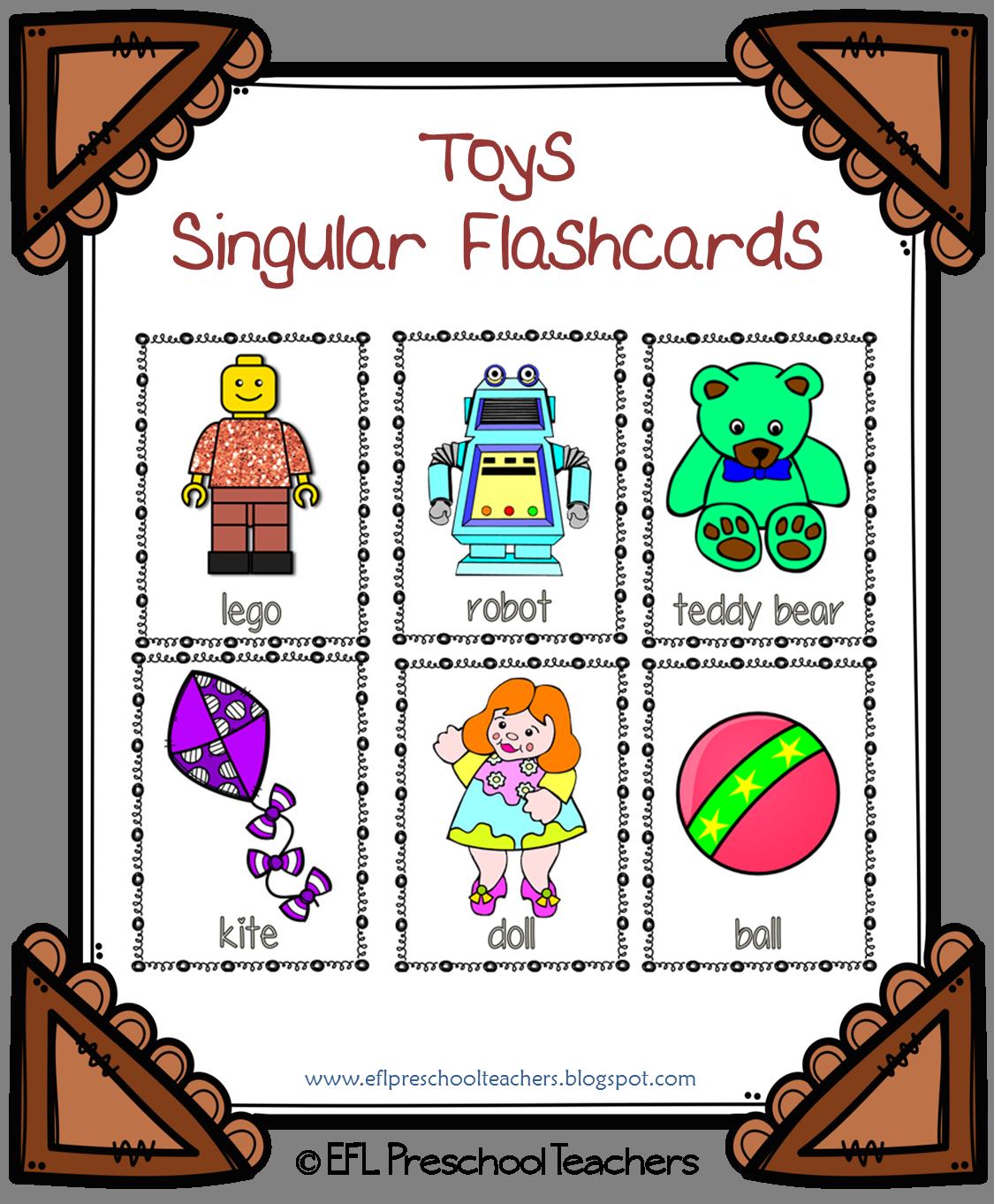 Esl Efl Preschool Teachers Toys Worksheets