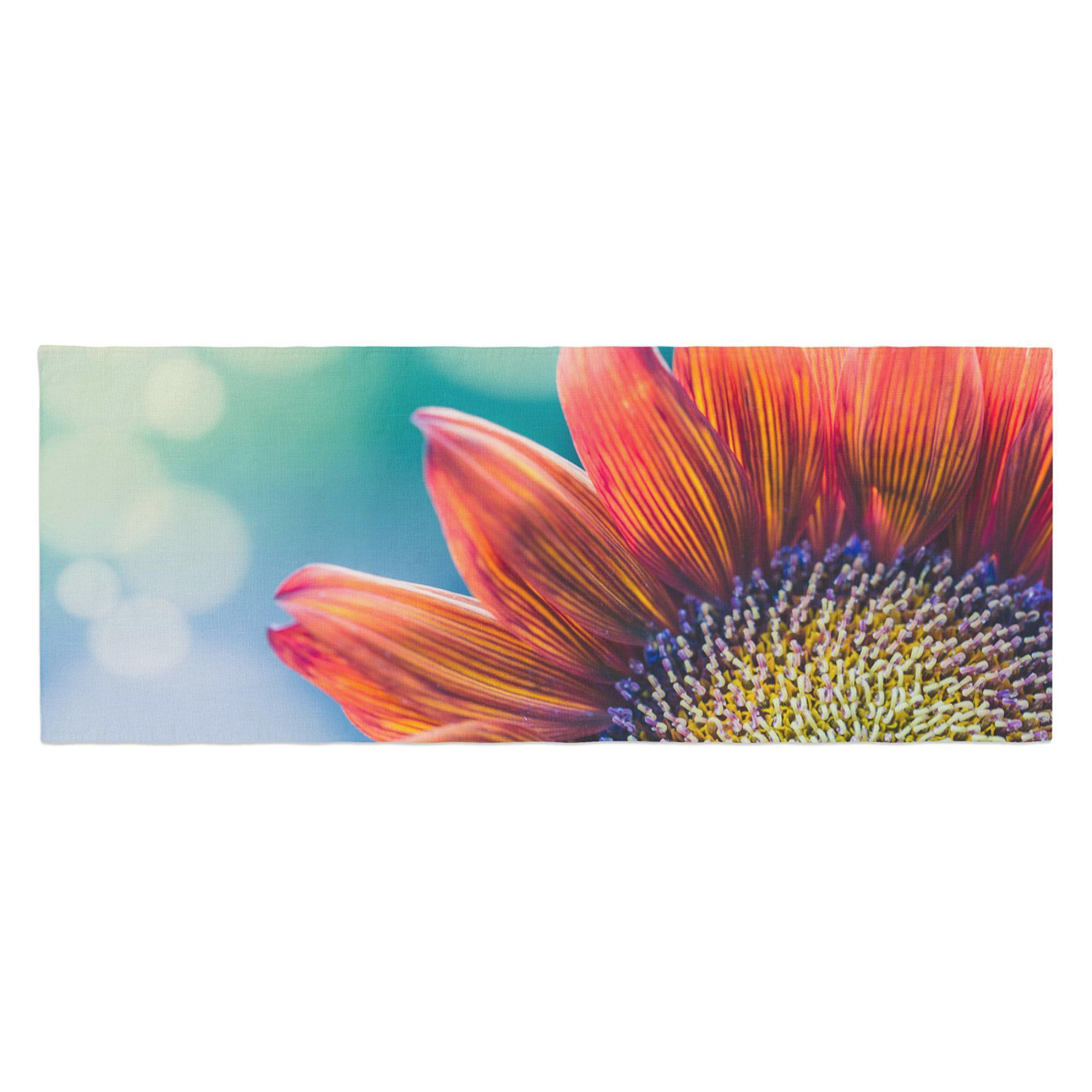 Ann Barnes Fire and Ice Flower Bokeh Bed Runner by Kess InHouse - AB2042ABR01