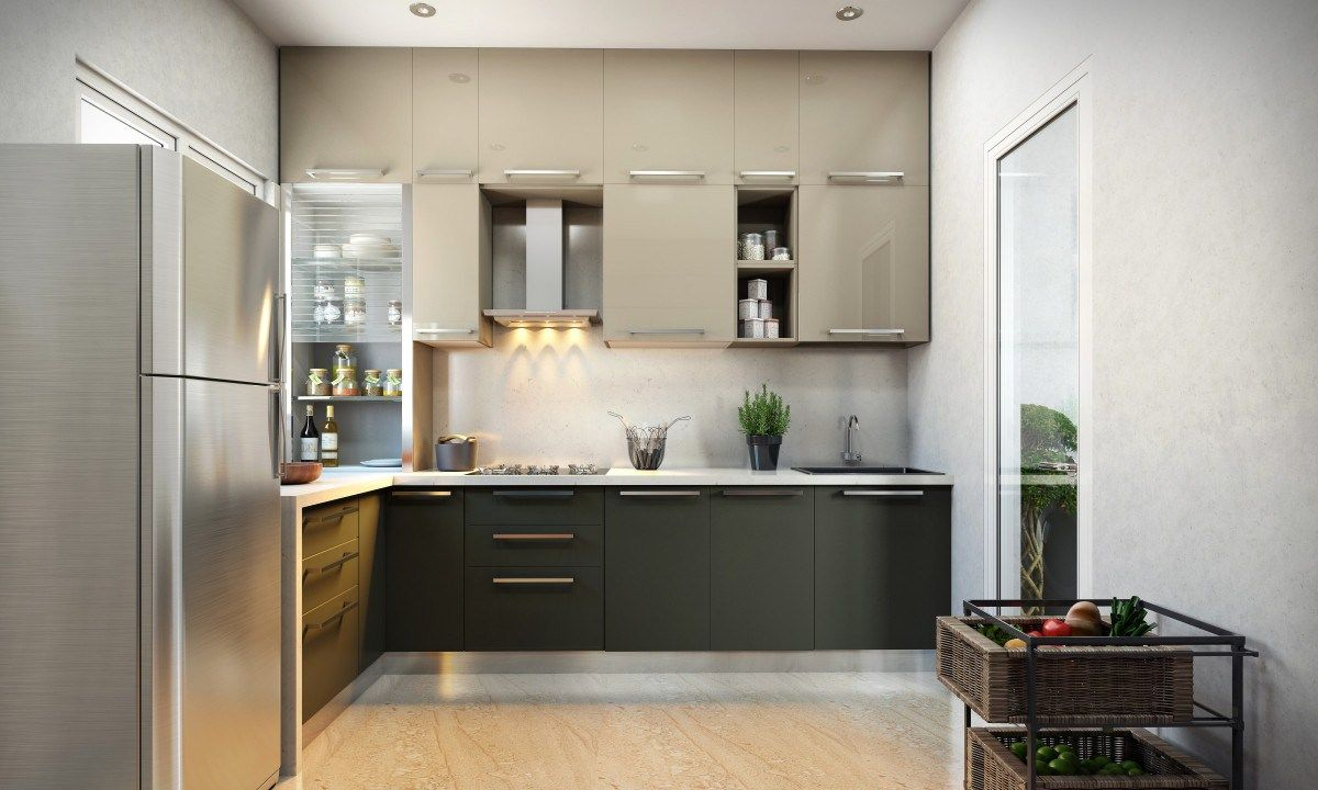 Ideas featuring shaped black finish cherry wood kitchen island