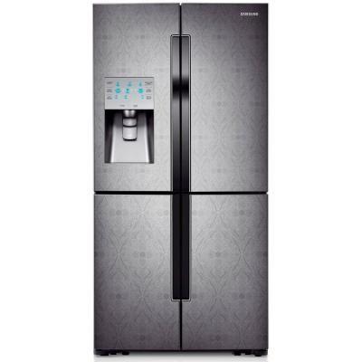 Samsung 304 Cu Ft French Door Refrigerator In Paisley Textured