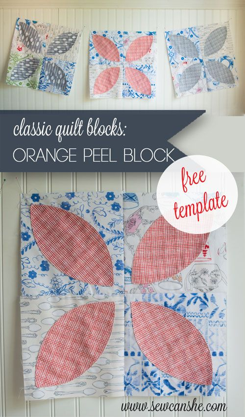 Classic Blocks Fresh Fabric For February Orange Peel