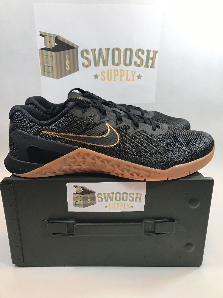 check out b8983 6c226 Nike Metcon 3 X Crossfit Trainer Black Metallic Gold New Size 12 AH7106-070   Nike  RunningCrossTraining