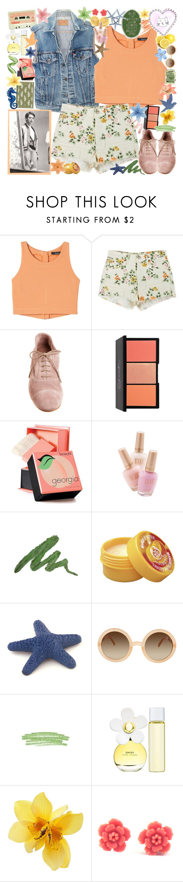 """""""under pressure"""" by sydneyis-swaggalici0us ❤ liked on Polyvore featuring Citizens of Humanity, CO-OP Barneys New York, tarte, Debenhams, Penguin Group, Urban Decay, The Body Shop, Aerie, ASOS and New Look"""