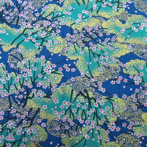 Tissus Japonais Tissus Japonais Bleu Et Or Est Une Creation Orginale De Sakura Crea Deco Sur Dawanda Tissus Japonais Art Japonais Decoration Japonaise
