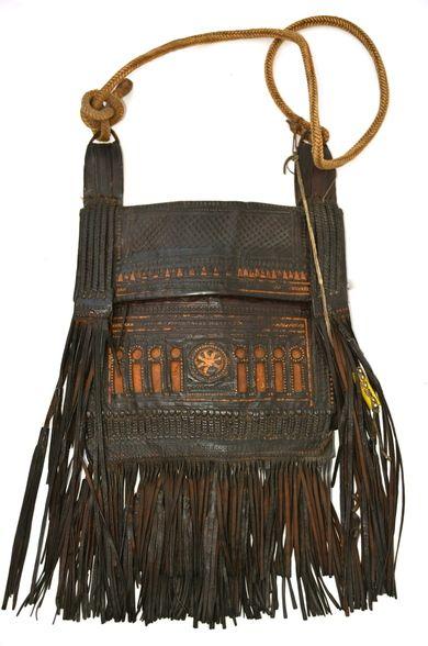 97cd02292b Moroccan Tuareg Vintage Leather Bag SOLD