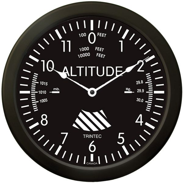 Large 14 altimeter aviation wall clock 39 95