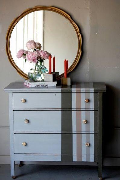 Commode DIY rayée Relooking meubles  objets Pinterest Dresser - relooker un meuble en pin