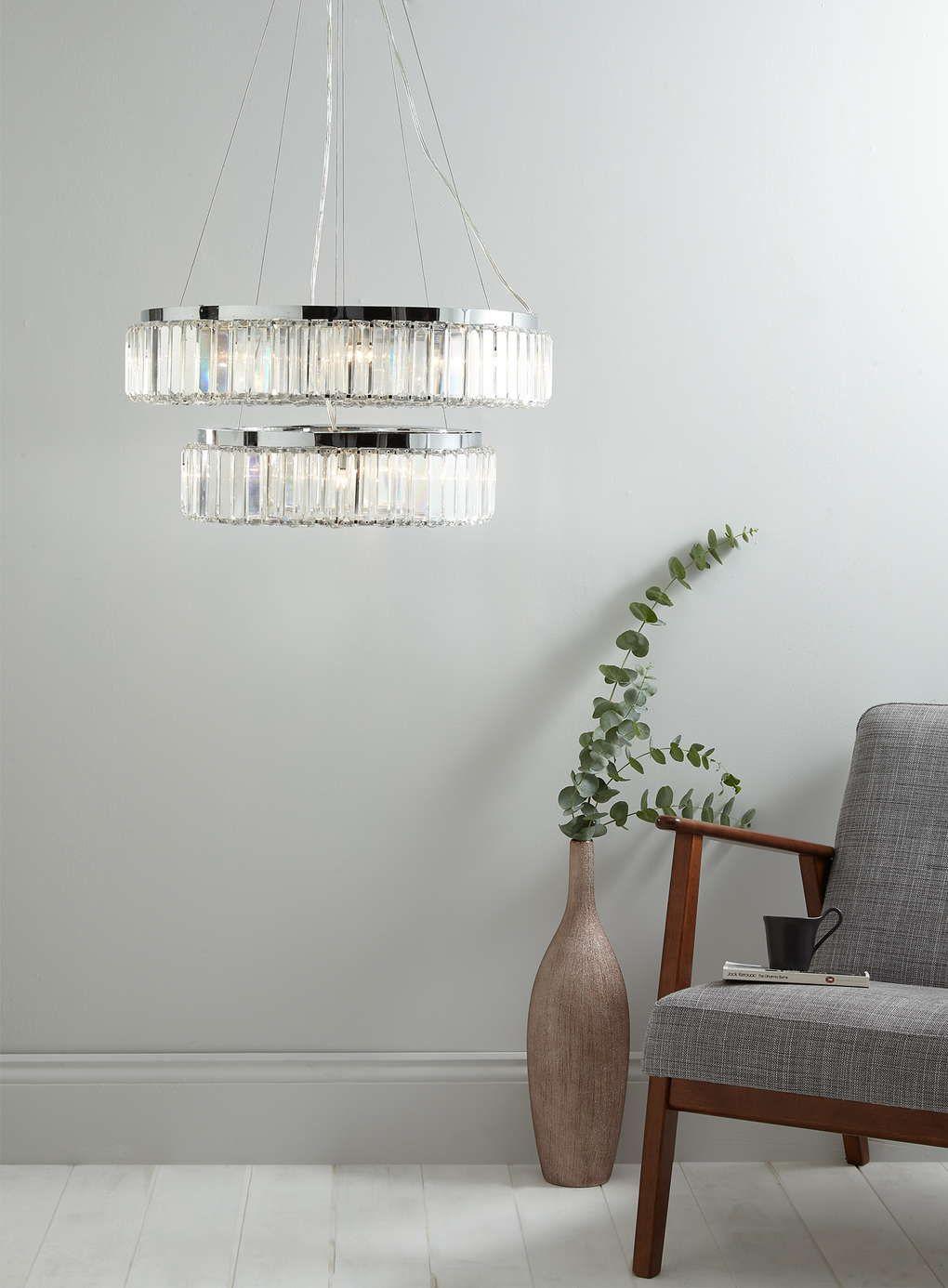 Clear Yaren Chandelier Pendant Light - BHS   living room   Pinterest ...