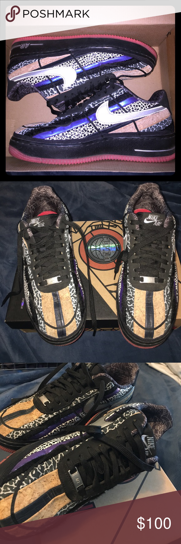 purchase cheap 3360a c62d8 Nike Air Force 1 low NOLA edition NBA Gumbo size 9 Size 9 men s , preowned  and comes with collectible box Nike Shoes Sneakers