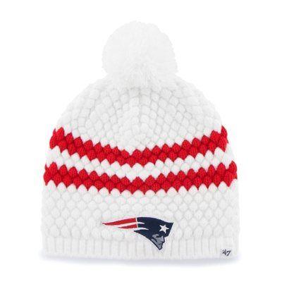 c0249368 New England Patriots '47 Brand Womens Kendall Uncuffed Pom Knit ...