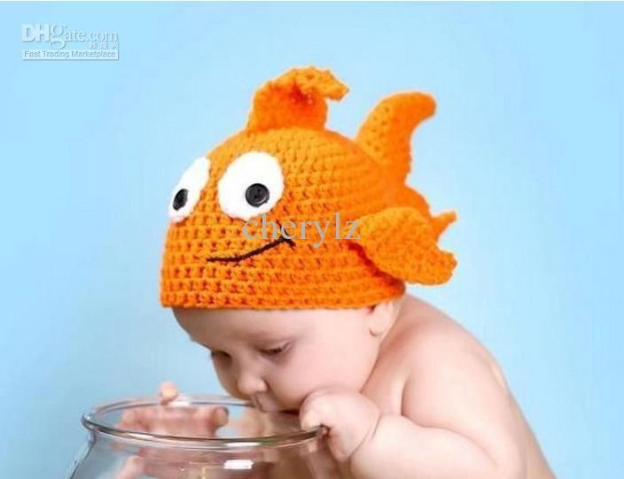 Neugeborene Baby-Häkelarbeit-Hut-Clown-Fisch-Knit Schöne Caps Baby ...