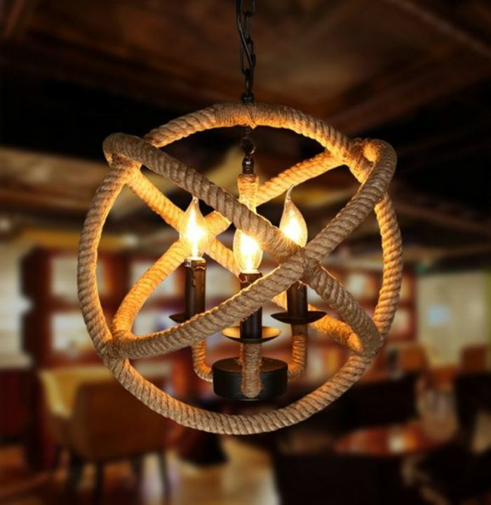 Inspirational DIY LAMPEN SELBER machen lampe diy lampenschirme selber machen seil globus Mehr