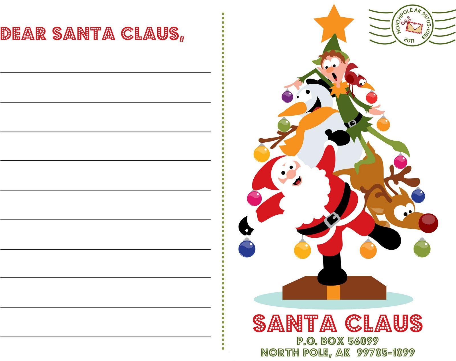 Letter To Santa  Xmas Fair    Free Printable And Xmas