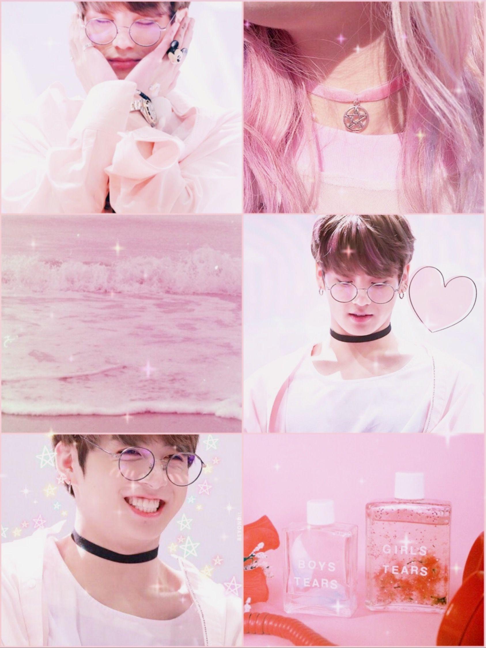 pastel bts pink aesthetic wallpaper