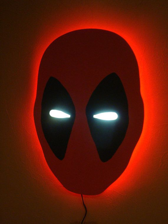 Deadpool wall light diy projects kids pinterest deadpool wall light aloadofball Choice Image