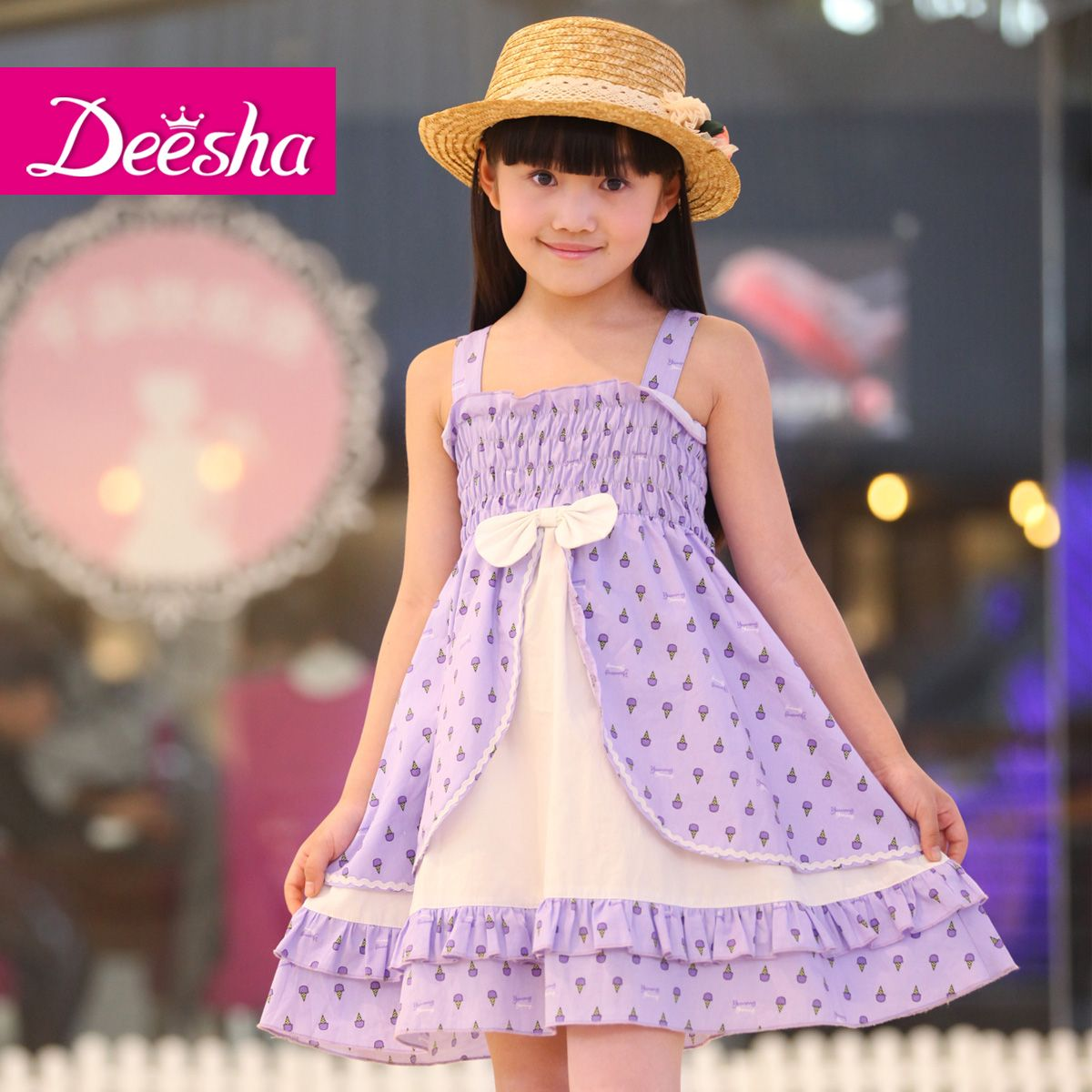 Free shipping 2013 new design purple stirped princess girls' dress for 4 10 years old-inDresses from Apparel & Accessories on Aliexpress.com...