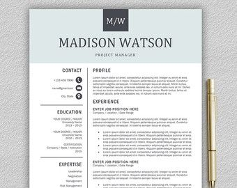 Modern Resume Templates Modern Resume Template For Word And Pages 1Landeddesignstudio