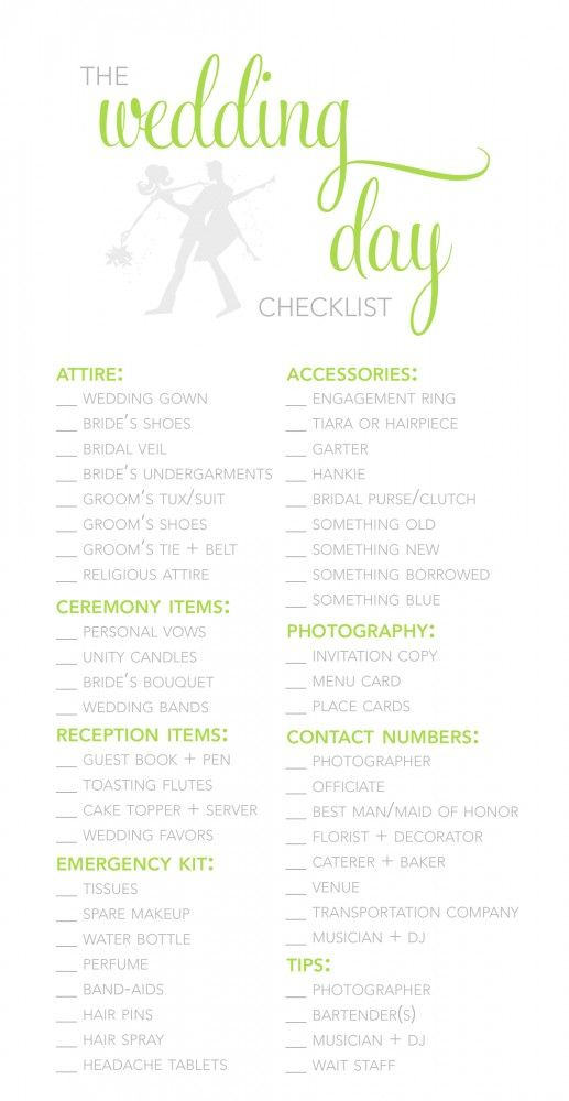 Wedding Planner Template Guide Checklist Decoration cakepins - bridal party list template