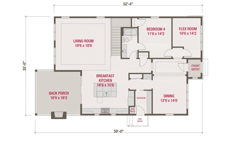 European Style House Plan 4 Beds 3 Baths 3174 Sq Ft Plan 461 58 House Plans Floor Plan Design Floor Plans