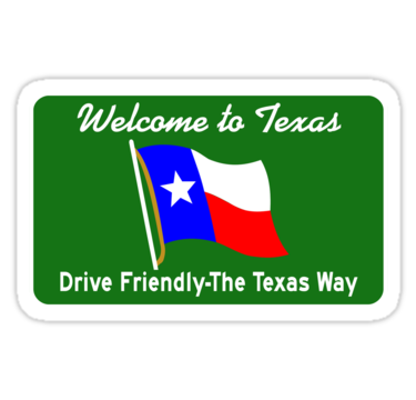 """""""Welcome to Texas, Road Sign, USA """" Stickers by worldofsigns 