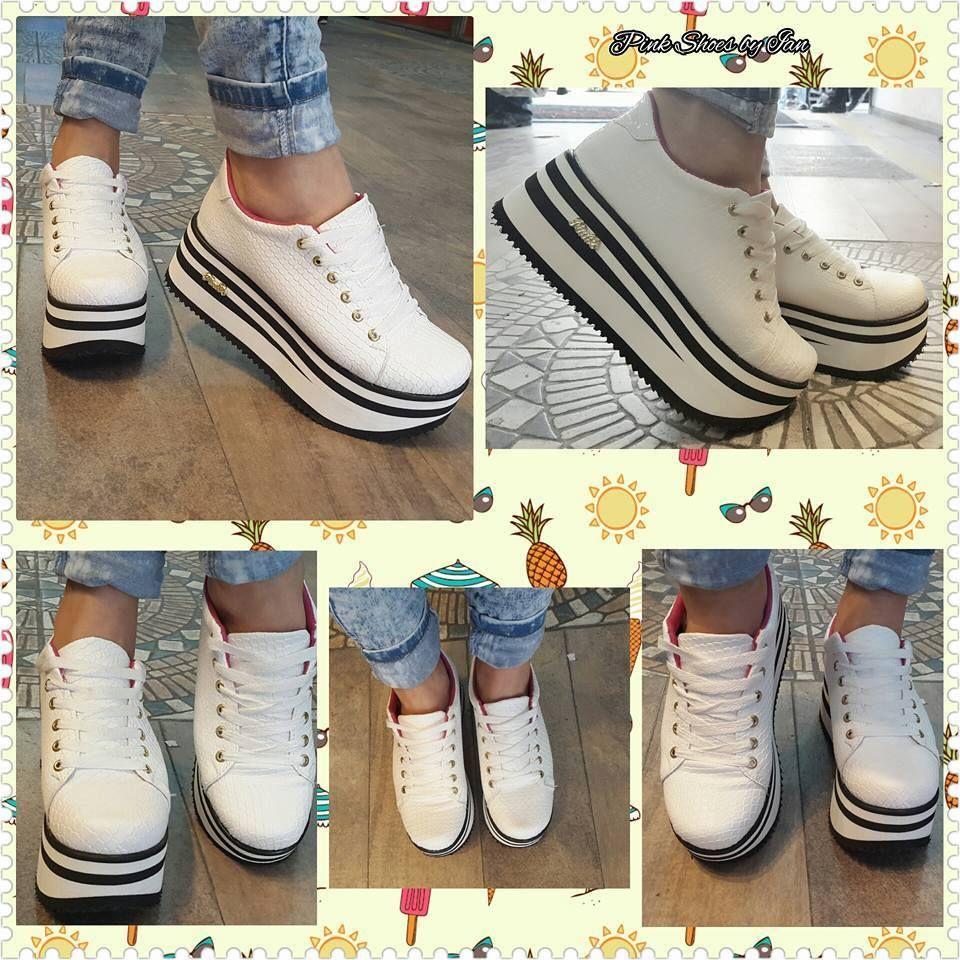 ad70cd1d600 Zapatillas Sneakers Con Plataforma Mujer -   999