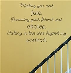 Meeting You Was Fate Becoming Your Friend Was Choice Falling In
